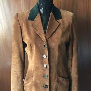 Danier Leather Vintage Suede Blazer Size Xs